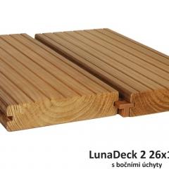 Lunawood terasové prkno Borovice Thermowood LunaDeck2 26x117mm 3000mm s bočními úchyty