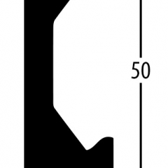 Balterio obvodová lišta 5cm 544 Ořech selekt 50x14mm